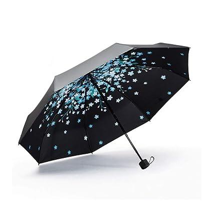 Super Luz Paraguas Sombrilla Parasol Dualpurpose Doble Paraguas Paraguas Paraguas Mini a Mitad De Protección Solar
