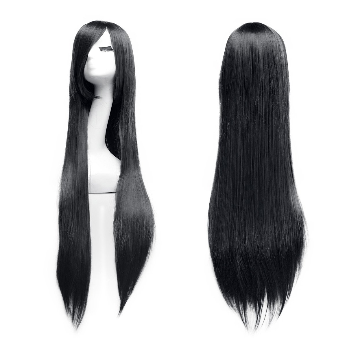 100cm Cosplay larga recta peluca Completo Wig Dazone