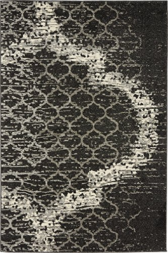 (Unique Loom Trellis Collection Geometric Modern Charcoal Gray Area Rug (4' 0 x 6' 0))
