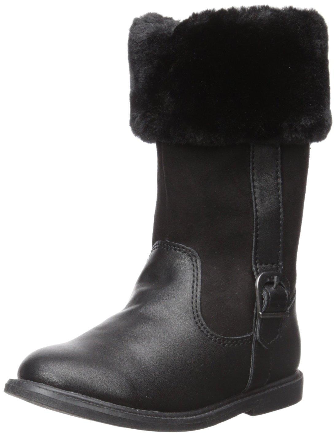 Carter's Girls' Tampico Fashion Boot, Black, 10 M US Toddler