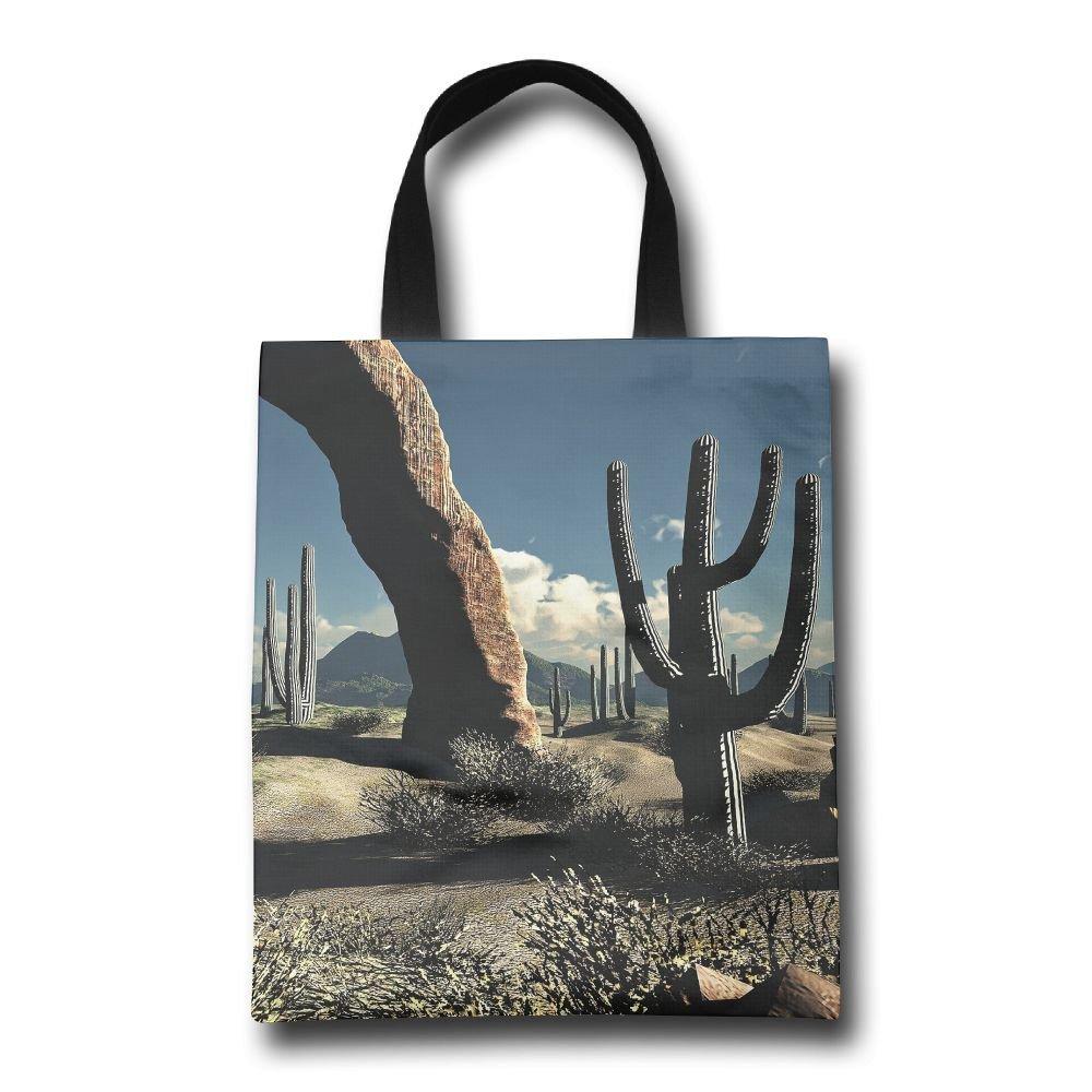 homlife Cactus in Realityアートパターン再利用可能なバッグ耐久性折りたたみ式トートバッグfor旅行、ショッピング、ノートパソコン、学校Books   B07DGXL849
