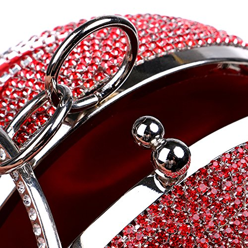 Luxury Rhinestone Round YUEER Cosmetic Dinner Ladies Bag C Joker Clutch Bag Banquet Party A wUIdYqdn