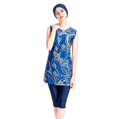 Pingtr - Middle East Muslim Sonnenschutz Badebekleidung - Frauen Badebekleidung + Badebekleidung + Hijab