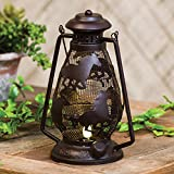 Black Forest Decor Metal Horse Lantern