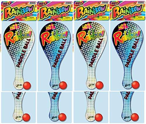 Ja-Ru Rainbow Paddle Ball Bundle Pack