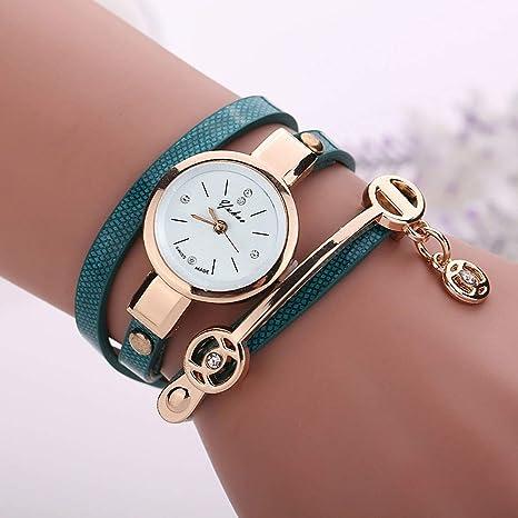Amazon.com: Relojes Mujer Reloj de pulsera de cuarzo de ...