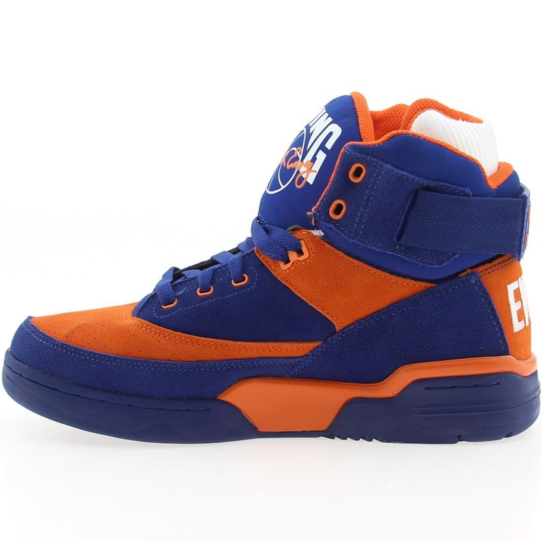Patrick Ewing 33 HI Zapatillas Sneakers Cuero Gamuza Azul Naranja para Hombre Baloncesto: Amazon.es: Deportes y aire libre