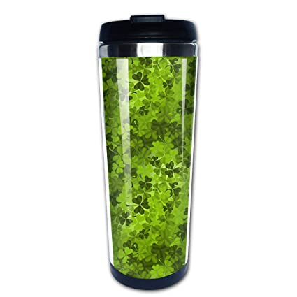 11e0008838d Stainless Steel Insulated Travel Car Mug First St Patricks Day Leaf Clover  Spill Proof Flip Lid | Coffee Mug | Double Wall Vacuum Insulated Coffee &  Tea Mug ...