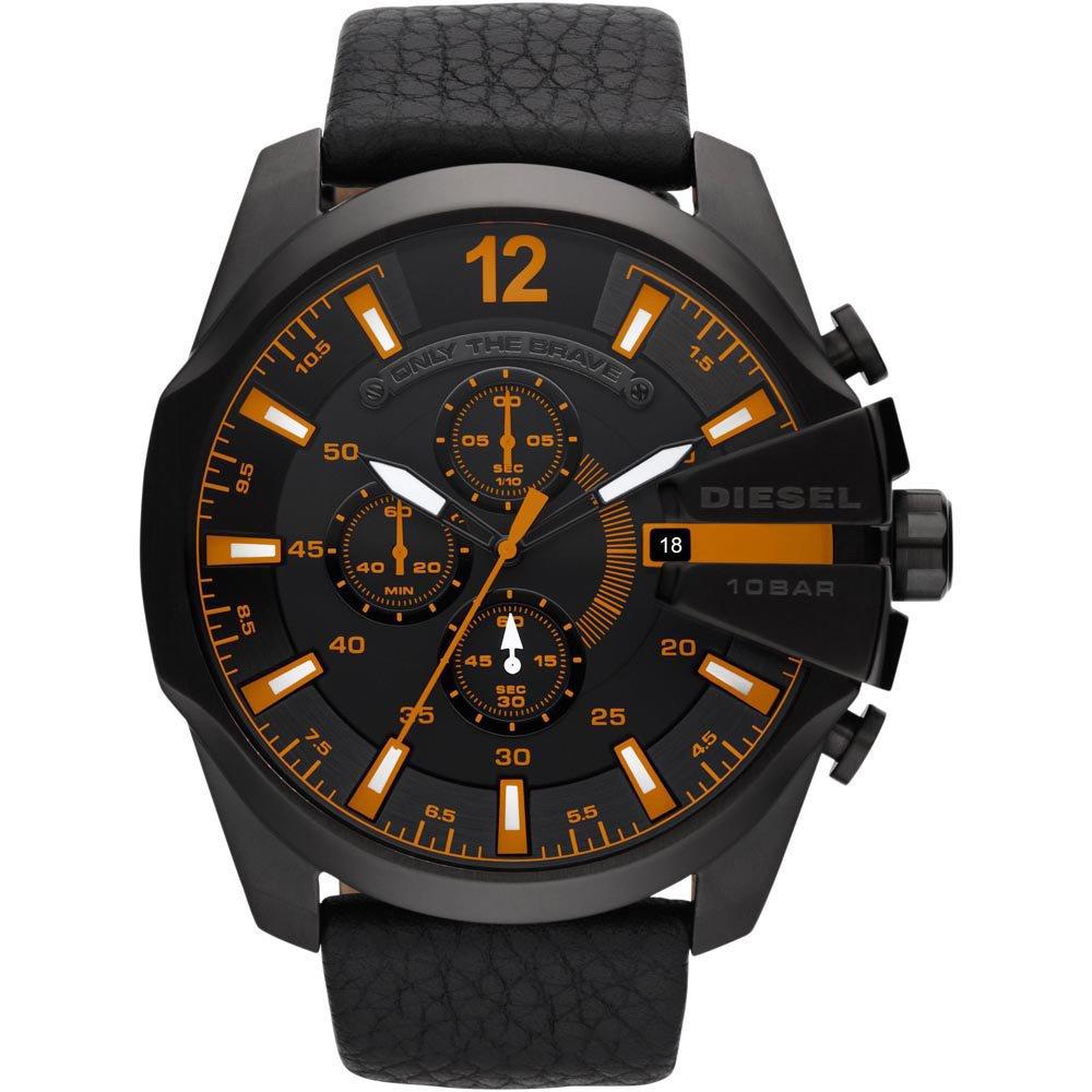 Diesel SUMMER 2013 dz4291 49mm Stainless Steel Case Black Calfskin Mineral Men's Watch