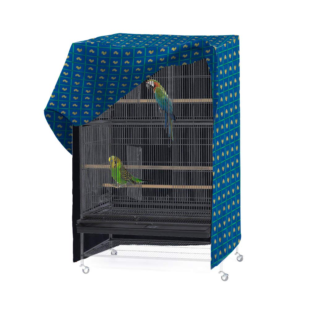 Geyecete Pet Products Good Night Bird Cage Cover, Fits Most 35 inch Pet Crates. Easy to Put On, Take Off, and Adjust - Cover only -S by Geyecete