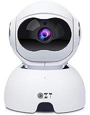 QZT Cámara de VIgilancia WiFi, 1080P FHD Cámara IP Interior con Visión Nocturna, Motion Detection, Móvil Seguir, Cámara de Casa para Niño/Perro/Oficina/Tienda