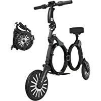 Jupiter Bike 2.0 - Smallest Folding Electric Bicycle/E-Bike/Scooter with 10 Mile Range, 15 Mph Speed - 240w Hub Motor
