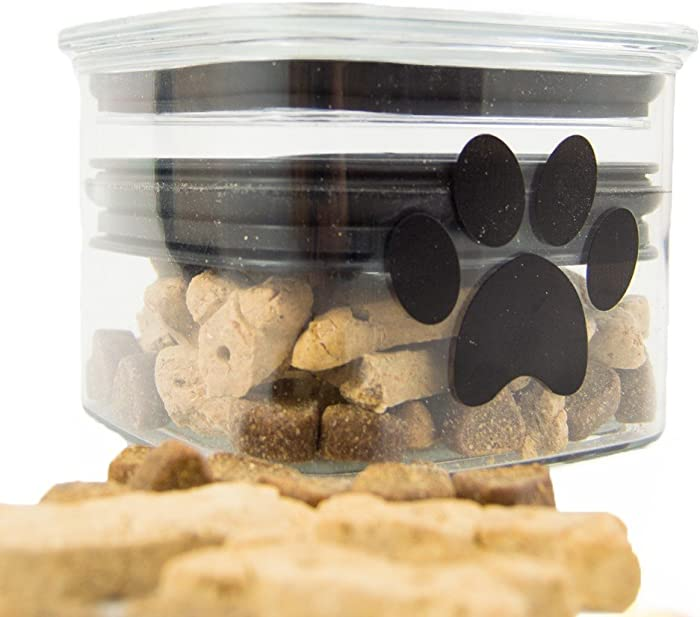Airscape Pet Food and Treat Storage Container - Patented Airtight Lid Preserves Food Freshness - Clear Plastic - 32 fl. oz