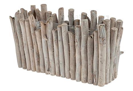 matches21 vaso fioriera parallelepipedo legno cuboide legno rami ...