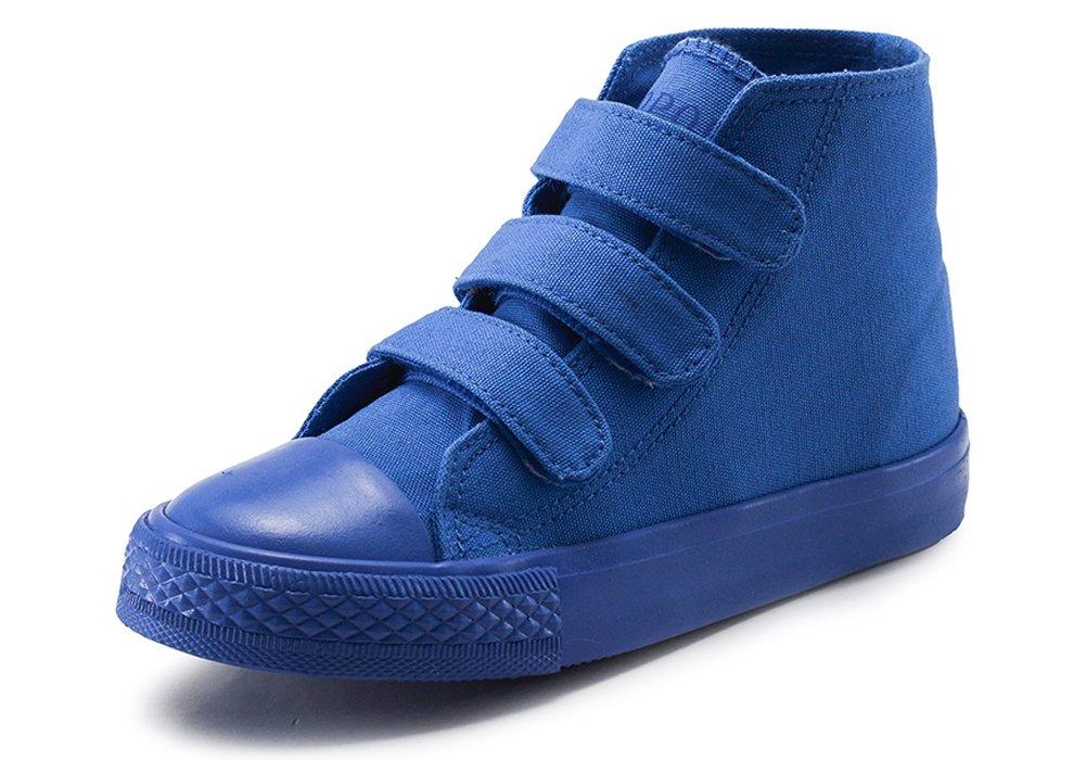 iDuoDuo Kids Classic School Board Shoes Casual High Top Basketball Sneakers Blue 13 M US Little Kid