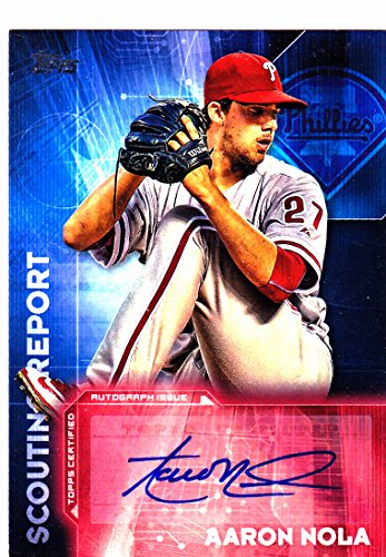 2016 TOPPS AARON NOLA SCOUTING REPORT RC ROOKIE AUTO AUTOGRAPH