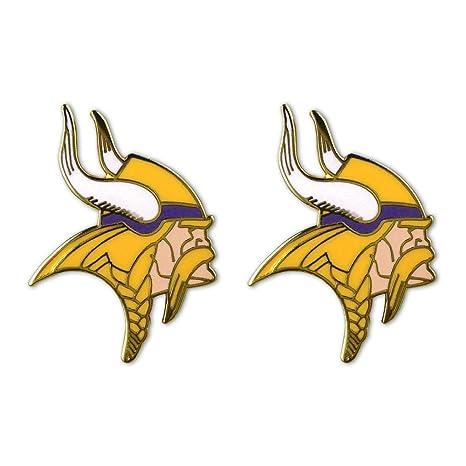 829fc2e49 Image Unavailable. Image not available for. Color  Siskiyou Minnesota  Vikings Stud Earrings - NFL Football Fan Shop ...