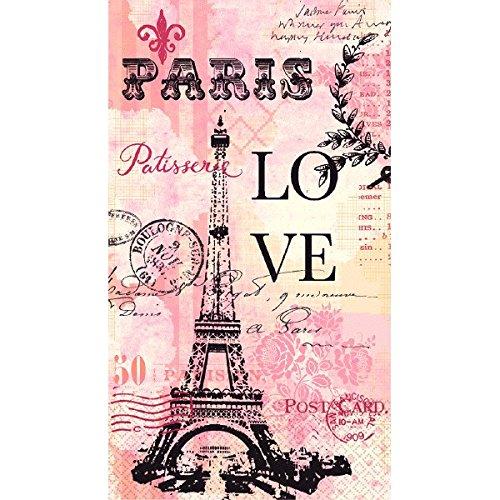 amscan Paris Love 2-Ply Paper Guest Towels, 16