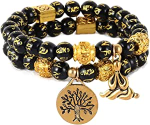 Fathers Day GiftHealing BraceletEnergy BraceletChakra BraceletHealing JewelryMens BraceletPicture JasperLava