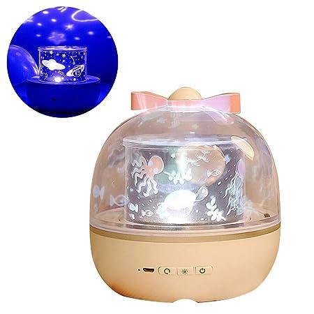 AOKARLIA Proyector de Estrellas luz Nocturna para bebé ...