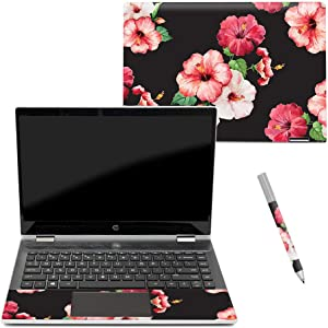 "MightySkins Skin Compatible with HP Pavilion x360 14"" (2018) - Hibiscus 