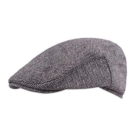 Daliuing Gorras de Viaje para Hombre Gatsby Newsboy Driving Hat Cap para Hombre Gorras Planas para