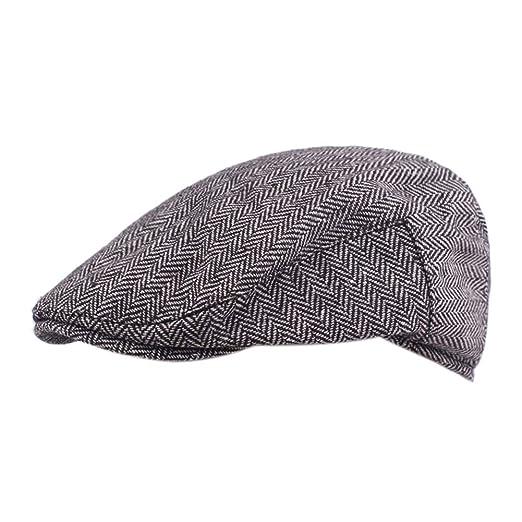 Daliuing Gorras de Viaje para Hombre Gatsby Newsboy Driving Hat ...