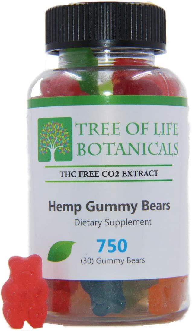 Hemp Gummies for Pain & Stress Relief - Hemp Oil Infused Gummy Bear Eases Pain, Anxiety, Stress & Inflammation Relief, Promotes Sleep & Calm Mood