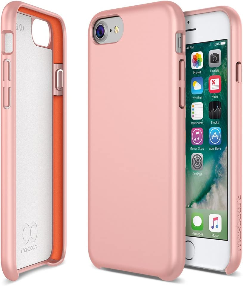 iPhone 8 7 6s 6 Case, Maxboost [SnapPro Series] Apple iPhone 7 Cover with GXD Impact Gel Cushion [Cherry Blossom] Premium Shock-Absorption Protection Frame Enhanced Soft Touch Coating Protective Case