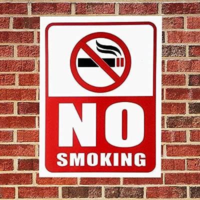 eSplanade Señal para no fumar, 4 piezas, libre de óxido ...