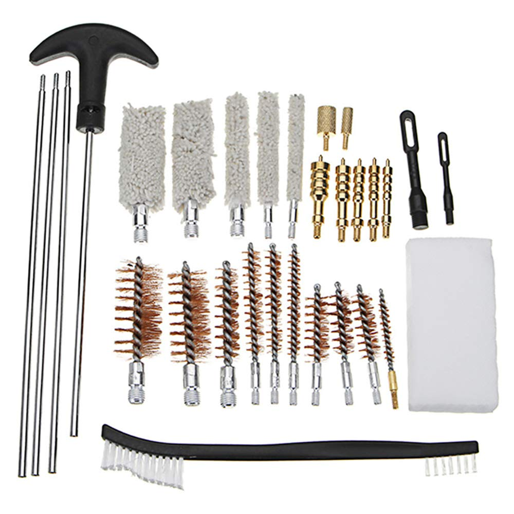 WElinks 26Pcs Universal Cleaning Brush Kit Portable Clean Kit Brushes Set Brass Cleaning Rod Polishing Rust Remover Pipe Hose Cleaning Brushes Set by WElinks