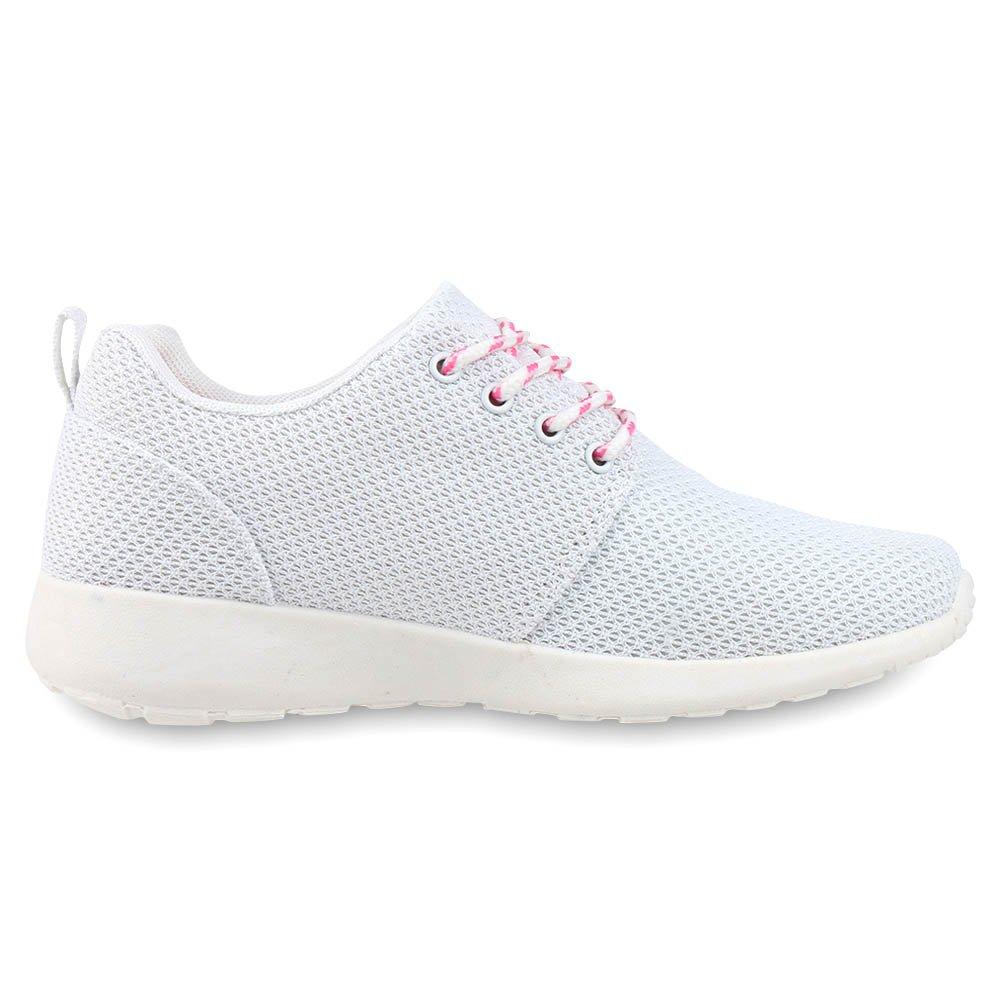 best-boots Sneaker Unisex Damen Laufschuhe Fitness Sneaker best-boots Sport Turnschuhe Weißs Nuovo 688bca