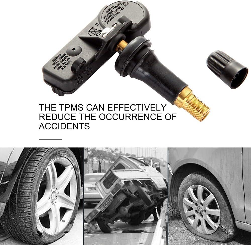 Black Programmed Tire Pressure Sensor Kit Replacement fits for 2007-2014 Buick Allure Lacrosse 2006-2014 Cadillac Escalade EXT 2006-2015 Chevrolet Impala Silverado 1500 2007-2015 GMC Yukon XL 1500
