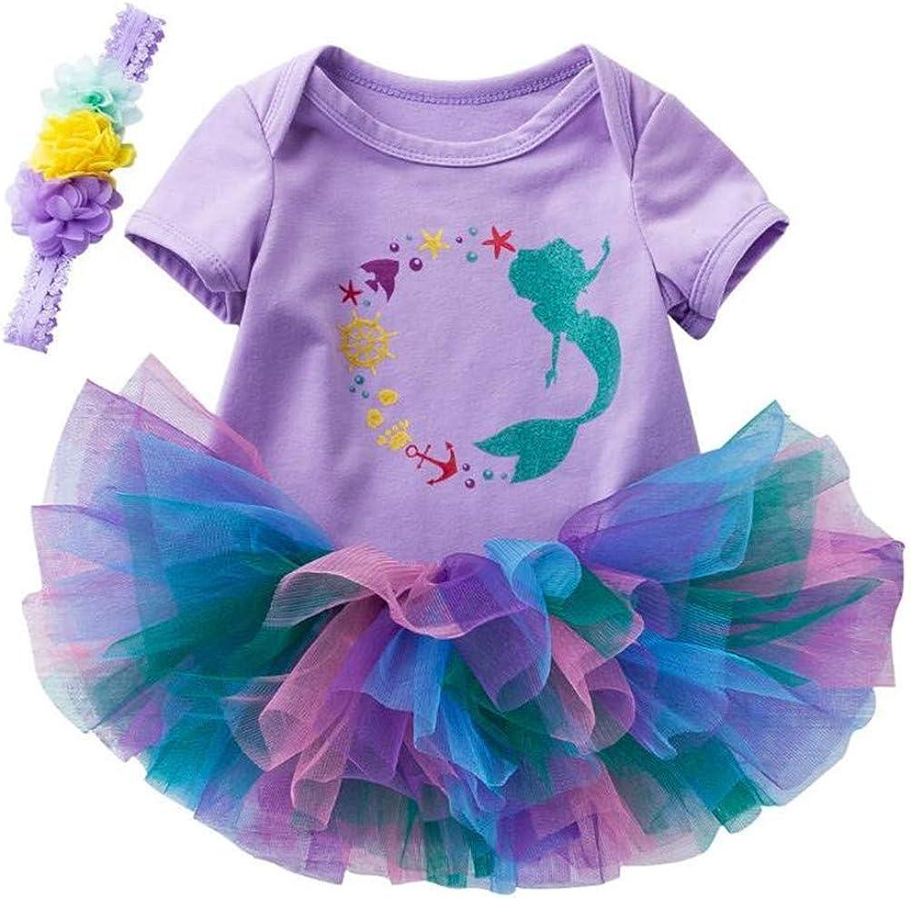Sallybright - Conjunto de tutú y Falda de Sirena para niñas ...
