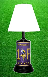 Amazon nfl minnesotta vikings table lamp with die cut lamp minnesota vikings table lamp mozeypictures Image collections