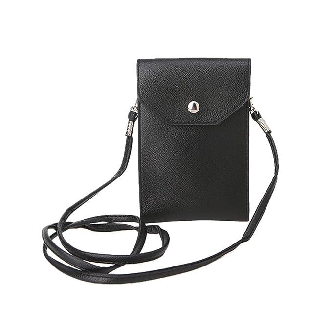 Amazon.com: Moda Universal Bolso de piel para teléfono móvil ...