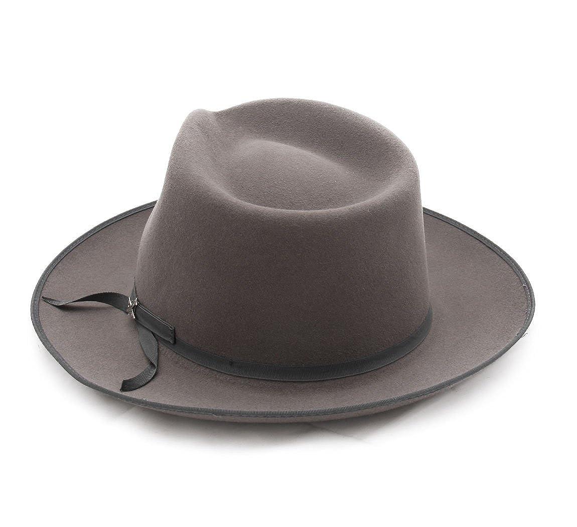 823bd4f0fedd52 Stetson - Fedora Hat wool felt men Stratoliner Fur Felt - Size L: Amazon.co. uk: Clothing