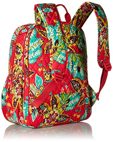 Women's Campus Tech Backpack, Signature Cotton, Rumba by Vera Bradley (Image #2)