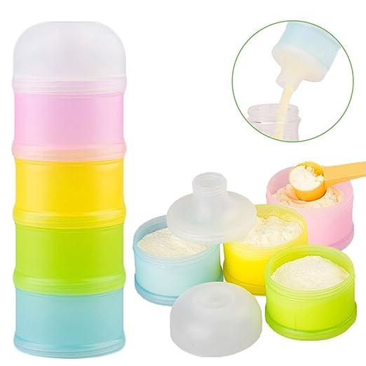 Dispensador de Formula, Kidsmile apilable On-the-Go BPA del dispensador de leche en polvo y almacenamiento de contenedores de aperitivos - no hay ...