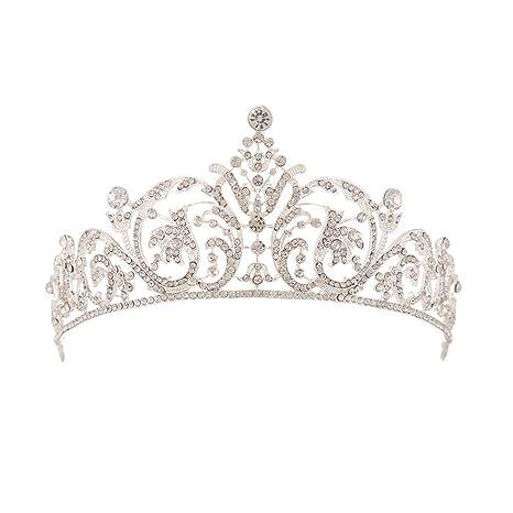 HGDR Novia De Plata Crystal Crown Diadema Wedding Proms ...