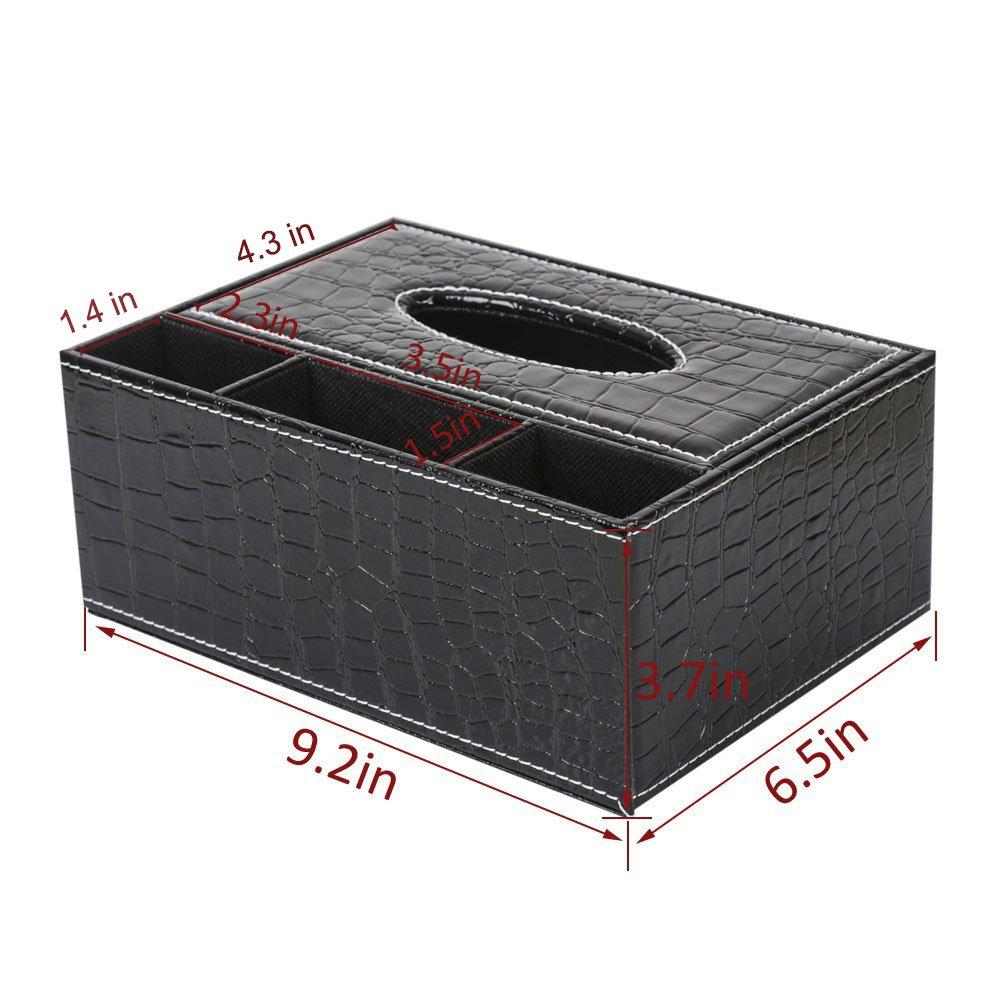 caja de pa/ñuelos mando a distancia Recipiente multifunci/ón de piel sint/ética para bol/ígrafo ThyWay l/ápiz