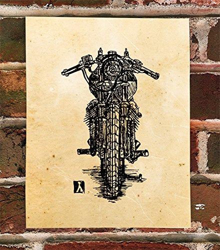 KillerBeeMoto: Vintage Moto Guzzi Cafe Racer Print