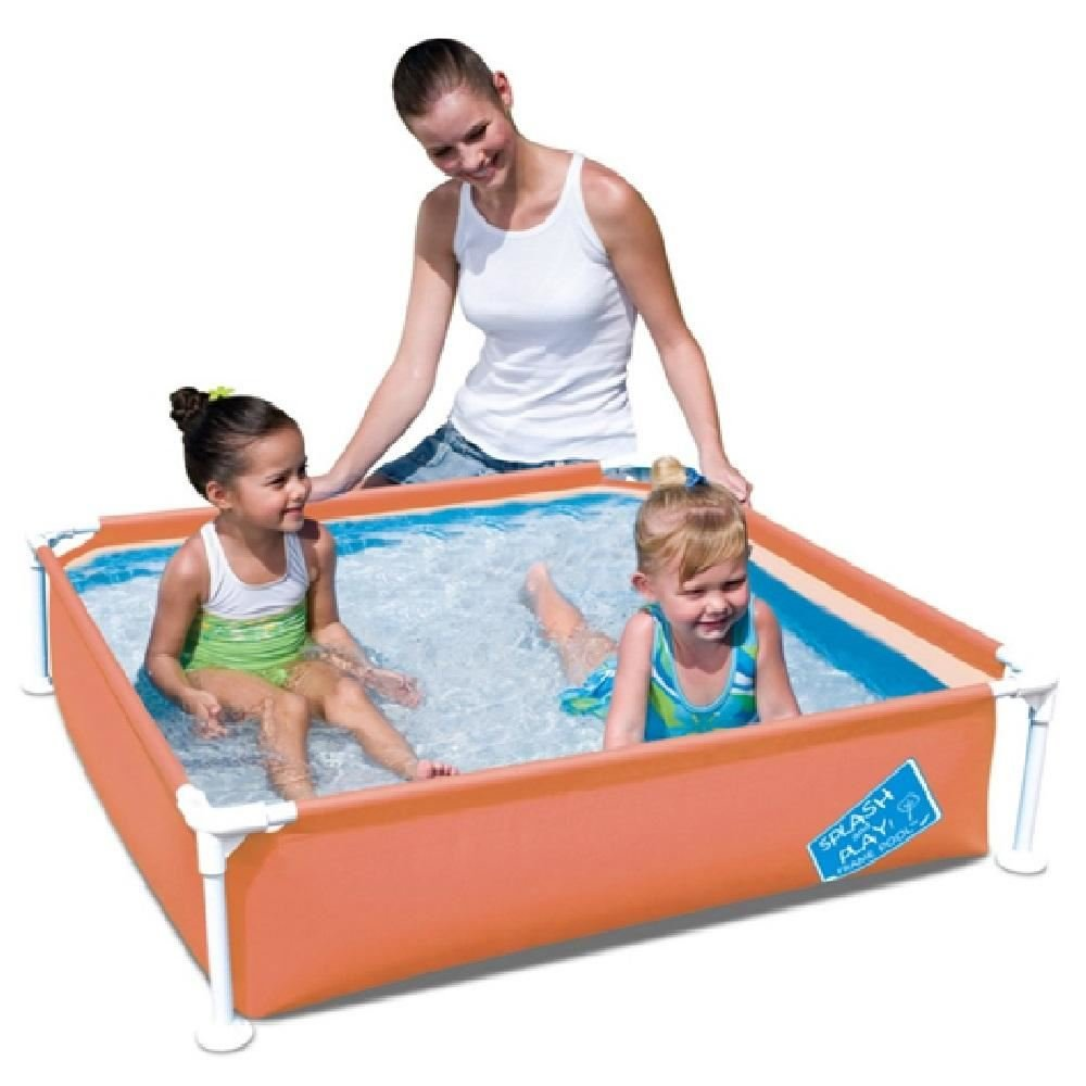 Bestway My First Fast Set Frame Rectangular Garden Splash Swimming Paddling Pool[Green] BestwayFramePool