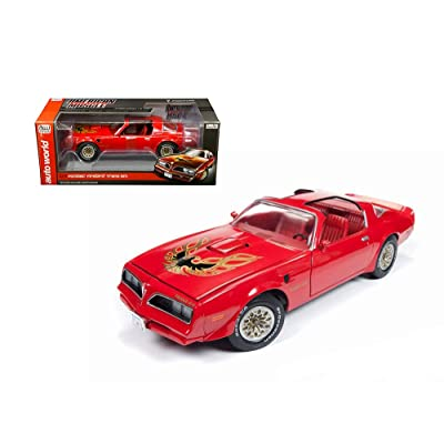 Auto World 1977 Pontiac Firebird Trans Am Hard Top, Buccaneer Red AMM1160 - 1/18 Scale Diecast Model Toy Car: Toys & Games