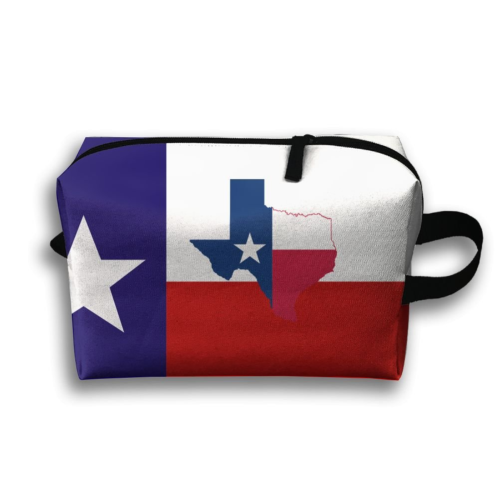 Love Texas Map Travel Bag Multifunction Portable Toiletry Bag Organizer Storage