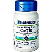 Life Extension, Super Ubiquinol CoQ10 mit erweitertem Mitochondrien-Support (Shilajit), 200mg, 30 Weichkapseln
