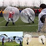 """Two Pieces 58.5"""" Large Bumper Ball Adult Size Inflatable PVC Grass Snow"""