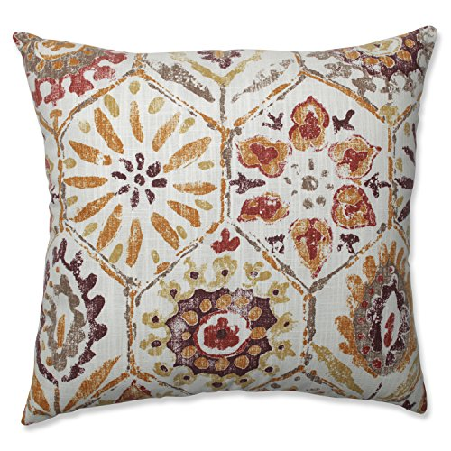 Pillow Perfect Antique Stone Spice Throw Pillow, 18-inch, Purple