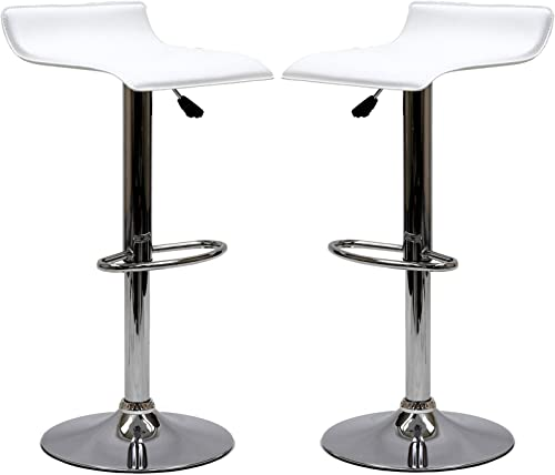 Modway Gloria Vintage Modern Faux Leather Upholstered Swivel Two Bar Stool