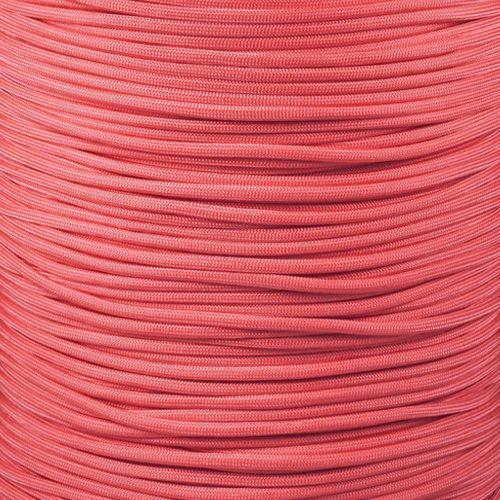 PARACORD PLANET 550 Paracord - Solid Colors - for Indoor and Outdoor Applications (10 Feet, Pink)